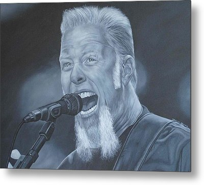 Metal Print featuring the painting James Hetfield I by David Dunne