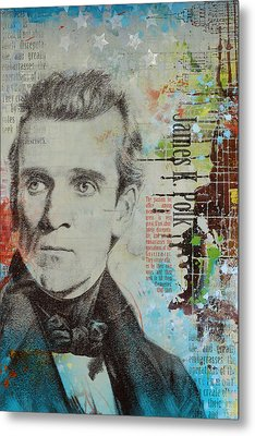 James K. Polk Metal Print by Corporate Art Task Force