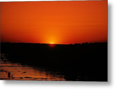 Metal Print featuring the photograph James River Sunset by John Harding