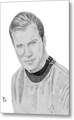 James Tiberius Kirk Metal Print