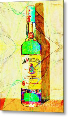 Jameson Irish Whiskey 20140916 Painterly V2 Metal Print by Wingsdomain Art and Photography