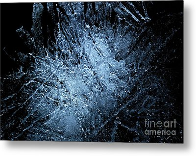Metal Print featuring the photograph jammer Frozen Cosmos by First Star Art