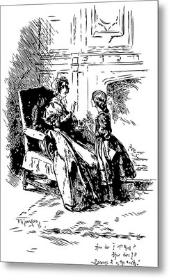 Jane Eyre Illustration Metal Print by