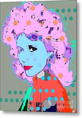 Jane Fonda Metal Print by Ricky Sencion