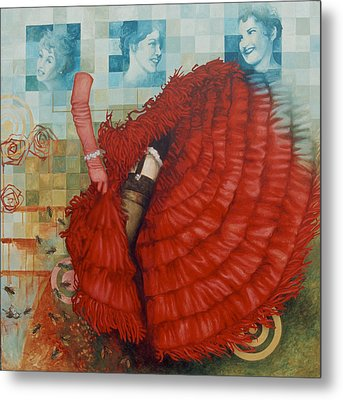 Jane Of The Waking Universe Metal Print by Sandra Cohen