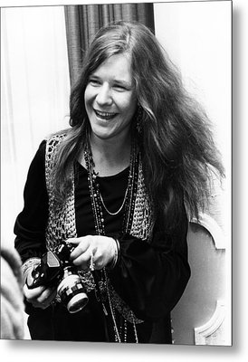 Janis Joplin 1969 Metal Print by Chris Walter