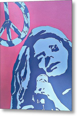 Janis Joplin Metal Print by Lew Griffin