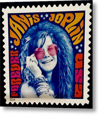 Janis Stamp In A Groovy Vibe Metal Print by Rob Hans