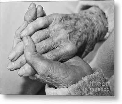 Metal Print featuring the photograph Jan's Hands by Roselynne Broussard