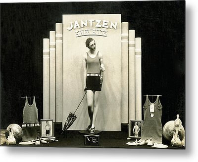 Jantzen Swim Suit Display Metal Print by Underwood Archives