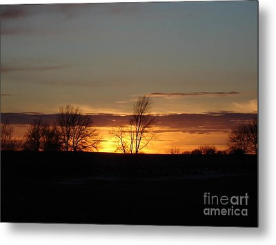 January 13th Sunset Metal Print by J L Zarek