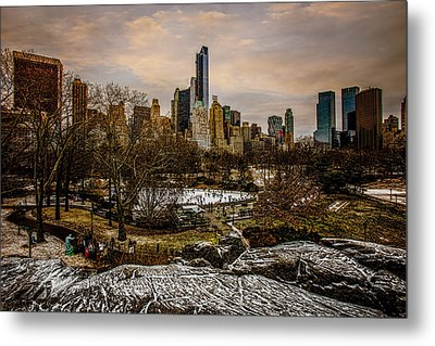January At Central Park South Metal Print by Chris Lord