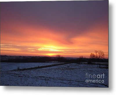 January Sunrise Metal Print by J L Zarek