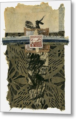 Japan 1943 Collage Metal Print by Carol Leigh