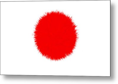 Japan Flag Metal Print by Daniel Hagerman