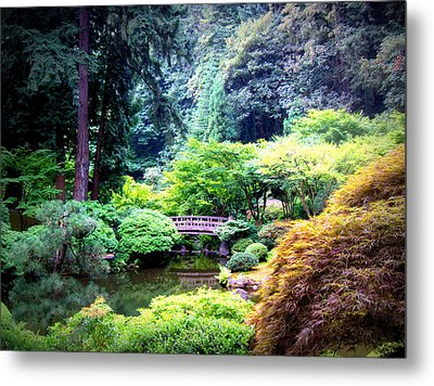 Japanese Bridge Metal Print