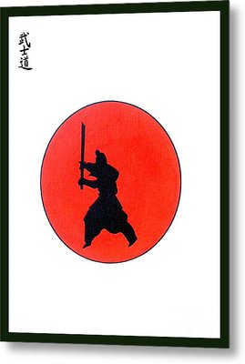 Japanese Bushido Way Of The Warrior Metal Print by Gordon Lavender