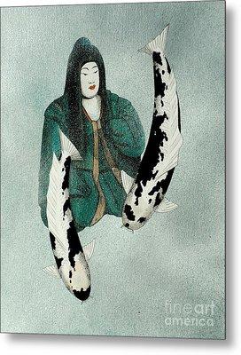 Japanese Empress Shinko Utsuri Mono Painting Metal Print by Gordon Lavender