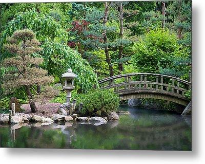 Japanese Garden Metal Print by Adam Romanowicz