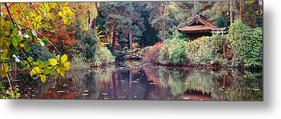 Japanese Garden In Autumn, Tatton Park Metal Print by Panoramic Images