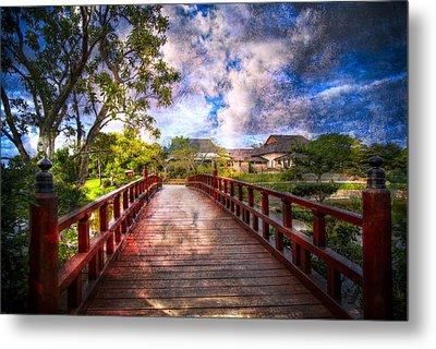 Japanese Gardens Metal Print by Debra and Dave Vanderlaan
