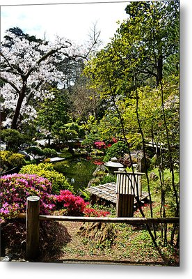 Japanese Gardens Metal Print by Holly Blunkall