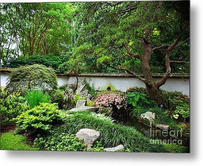 Japanese Gardens Metal Print by Lisa L Silva