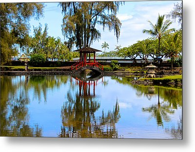 Japanese Gardens Metal Print by Venetia Featherstone-Witty