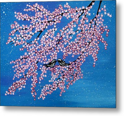 Japanese Joy Metal Print by Cathy Jacobs