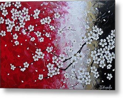 Japanese Plum Blossoms Metal Print by Tomoko Koyama