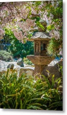 Japanese Shrine In The Garden Metal Print