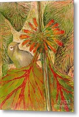 Japanese White Eye Metal Print