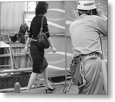 Japanese Woman Survey Metal Print by King Wells