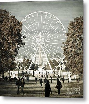 Jardin Des Tuileries Park Paris France Europe  Metal Print by Jon Boyes