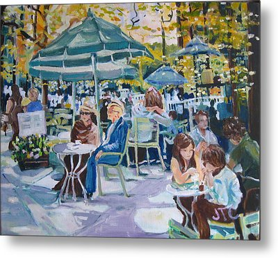Metal Print featuring the painting Jardin Du Luxembourg by Julie Todd-Cundiff