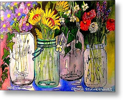 Jars Three Metal Print