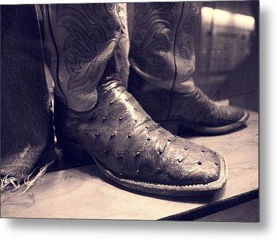 Jason Aldean's Boots Metal Print by Dan Sproul