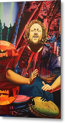 Metal Print featuring the painting Jason Hann At Horning's Hideout by Joshua Morton