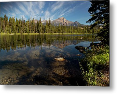 Jasper Park Lodge With Pyramid Mountain Metal Print