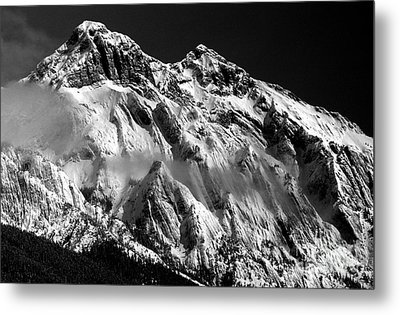 Jasper - Snow Packed Mountain In Spring Metal Print by Terry Elniski