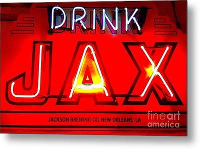 Jax Beer Of New Orleans Metal Print by Saundra Myles