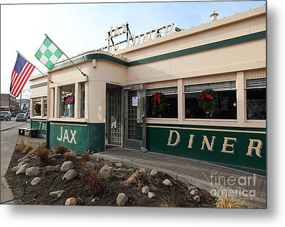 Jax Truckee Diner Truckee California 5d27506 Metal Print by Wingsdomain Art and Photography