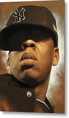 Jay-z Artwork Metal Print by Sheraz A