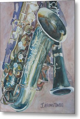 Jazz Buddies Metal Print by Jenny Armitage