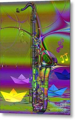 Jazz Chill Metal Print