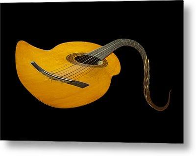 Jazz Guitar 2 Metal Print by Debra and Dave Vanderlaan