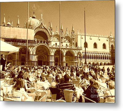Jazz In Piazza San Marco Metal Print by Ramona Matei