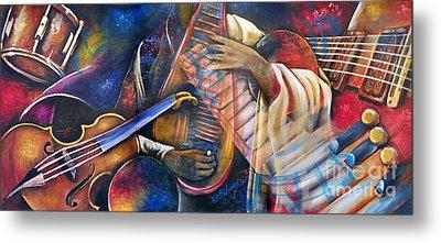 Jazz In Space Metal Print by Ka-Son Reeves