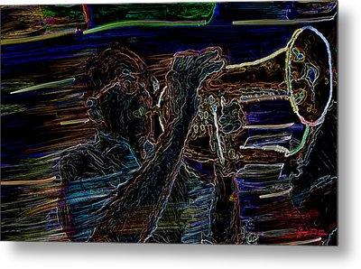 Jazz Man Jack Metal Print