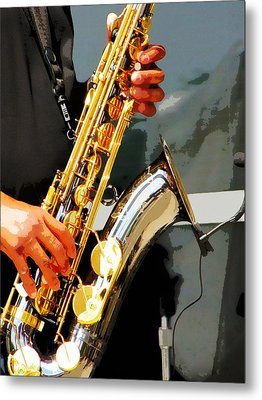 Jazz Man Metal Print by John Freidenberg